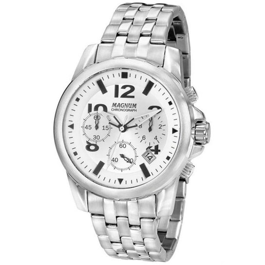 Relógio Masculino Magnum Analógico MA33031Q - Pra - Prata