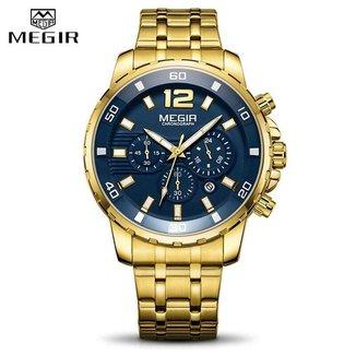 Relógio Masculino Megir 2068 Prata Original Analógico 100% Funcional