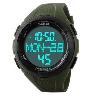 Relógio Masculino Pedometro Skmei Digital 1122 Verde e Preto
