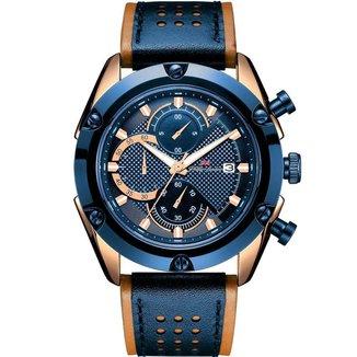 Relógio Masculino Phillip London Analógico Azul e Rose - PL80202612M AZ N