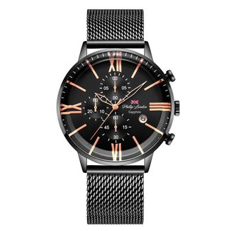 Relógio Masculino Phillip London Analógico Preto - PL80098613M PR N