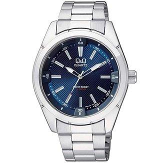 Relógio Masculino Prata e Azul Q&Q by Citizen Q894J212Y