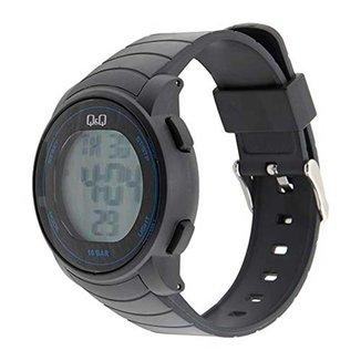 Relógio Masculino Q&Q Esportivo Digital M122J013Y Preto