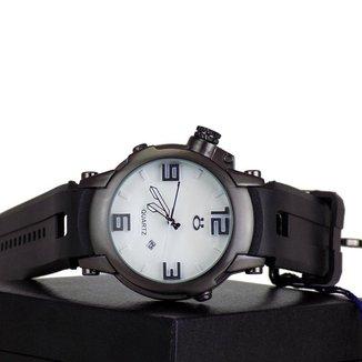 Relógio Masculino Quartz Orizom Pulseira De Silicone