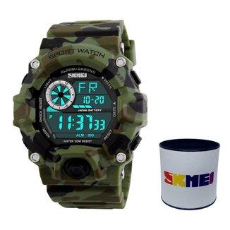 Relógio Masculino Skmei 1019 Digital Camuflado ESPORTIVO