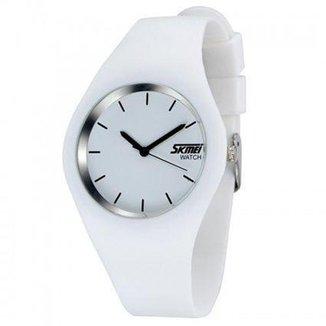 Relógio Masculino Skmei Analógico 9068 Branco