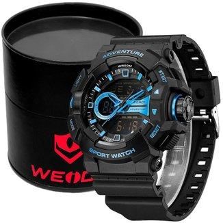 Relógio Masculino Weide Analógico Digital WA3J8002 - Preto e Azul