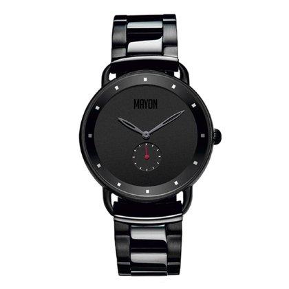 Relógio Mayon MN3010 Aço Inox Minimalista 40mm Diâmetro