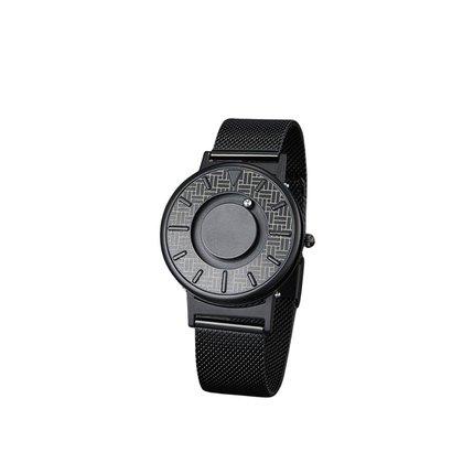 Relógio Mayon MN3509 Magnético Preto Minimal Aço Inox 40mm