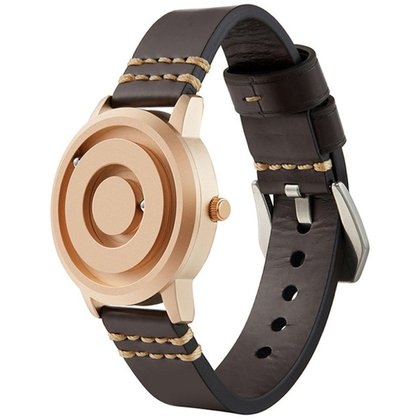 Relógio Mayon MN3529 Magnético Rosê Pulseira Couro 40mm