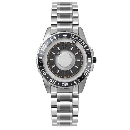 Relógio Mayon MN3599 Magnético Prata Aço Inoxidável 40mm