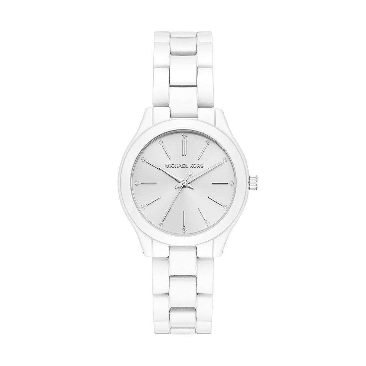 479c50c4388 Relógio Michael Kors Feminino Slim Runway - MK3908 1KN MK3908 1KN - Branco  - Compre Agora