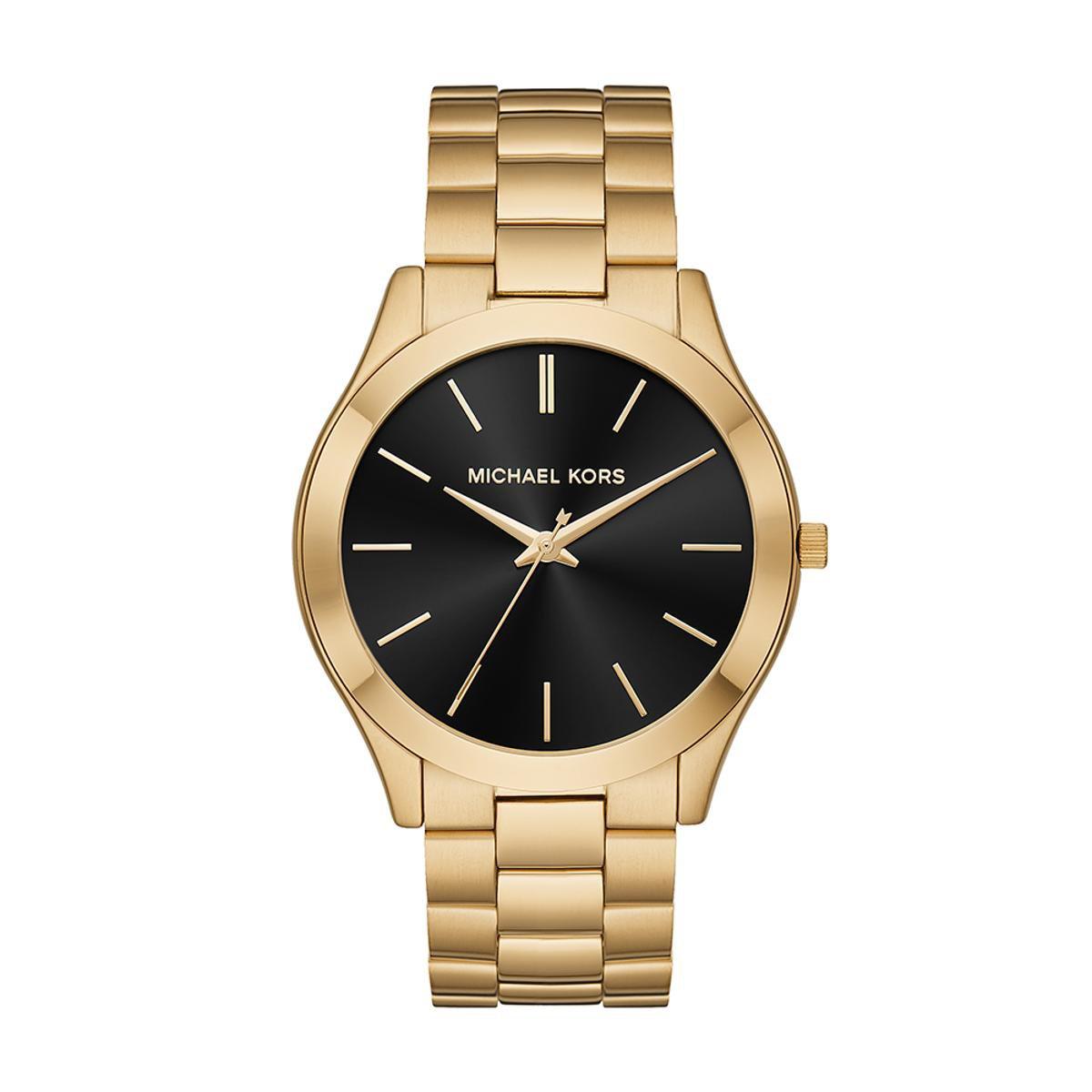 df00cb0cbbb2d Relógio Michael Kors Feminino Slim Runway - MK8621 1DN MK8621 1DN - Dourado  - Compre Agora