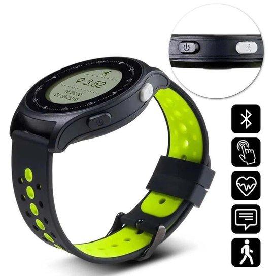 Relógio Monitor Cardíaco Sportwatch Chronus Atrio - Preto