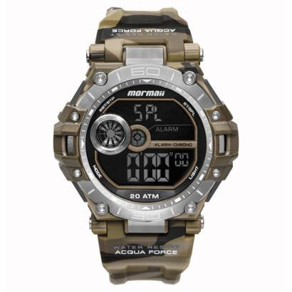 Relógio Mormaii Acqua Force 53mm Borracha Masculino - Masculino
