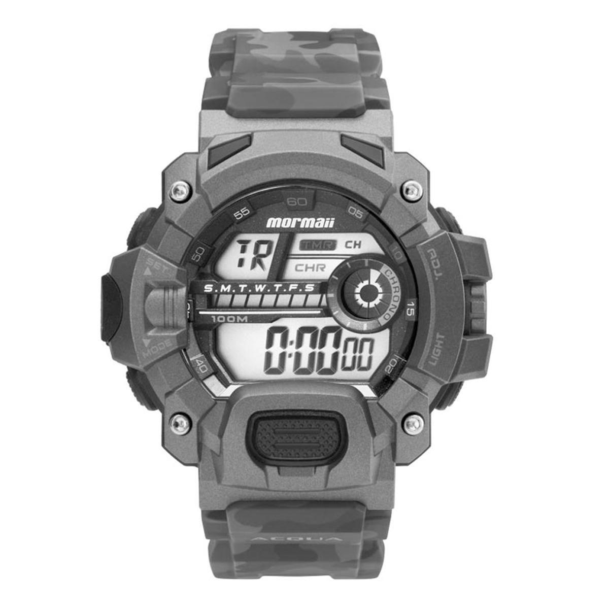 0d7a34d8ec458 Relógio Mormaii Action MO1132AE 8C - Cinza - Compre Agora
