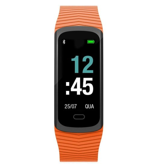 Relógio Mormaii Digital Smartband - MOB3AC/8L - Laranja