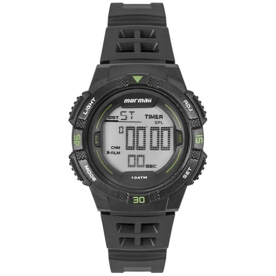 Relógio Mormaii Masculino Wave Preto MO9100AA/8V MO9100AA/8V - Dourado