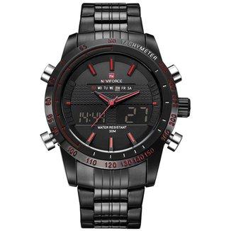Relógio NaviForce 9024 Preto Masculino Analógico e Digital Cronógrafo Funcional