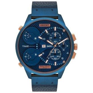 Relógio Orient Masculino XL Azul MASCT001-D2DX
