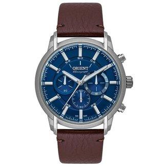 Relógio Orient Sport MBSCC055 Azul Marrom
