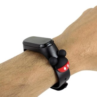 Relógio Orizom Infantil Led Bracelete Mickey RDL87 Prova D'água