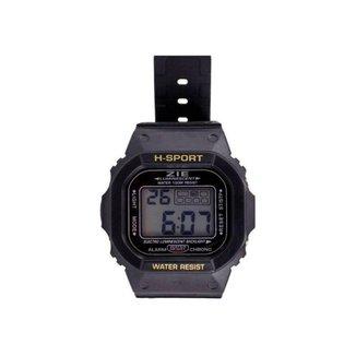 Relógio Orizom Sport Dirgital Led c/ Alarme e Calendário
