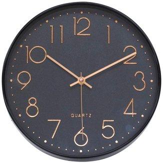 Relógio Parede Preto 25x25cm