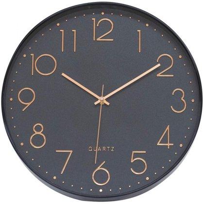 Relógio Parede Preto 35x35cm