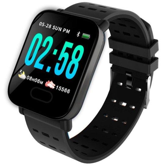 Relógio Pisste Sport Smartwatch Fitness Esporte Premium - Preto