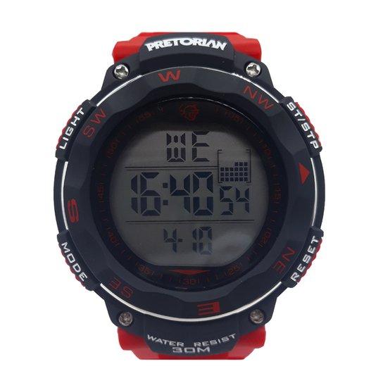 Relógio Pretorian Wprt-07 - Vermelho+Preto