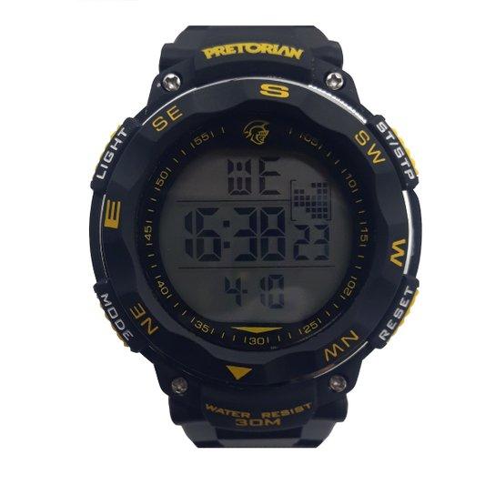 Relógio Pretorian Wprt-07 - Preto+Amarelo