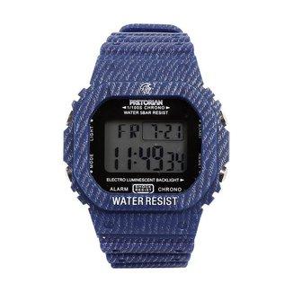 Relógio Pulso Digital Pretorian Pulseira Borracha Masculino