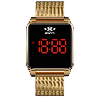 Relógio Pulso Digital Umbro Touch Screen Pulseira Metal - Unissex