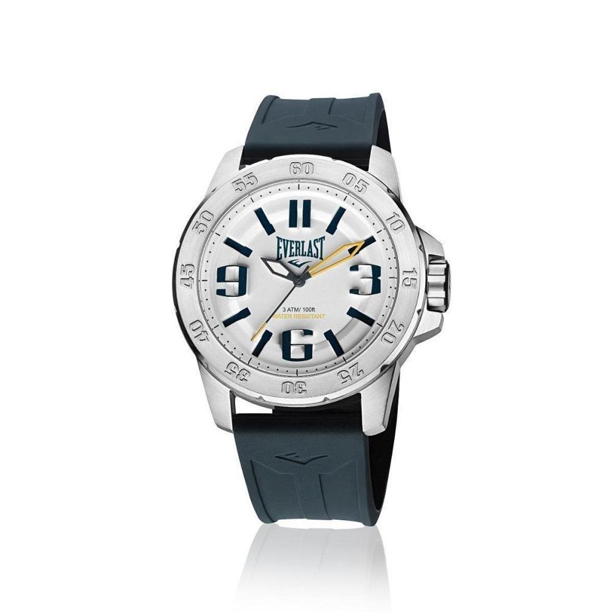 98854a22511 Relógio Pulso Everlast E698 Caixa Aço E Pulseira Silicone - Branco - Compre  Agora