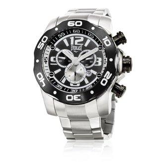 Relógio Pulso Everlast Masc E595 Cx Pulseira Aço Analógico