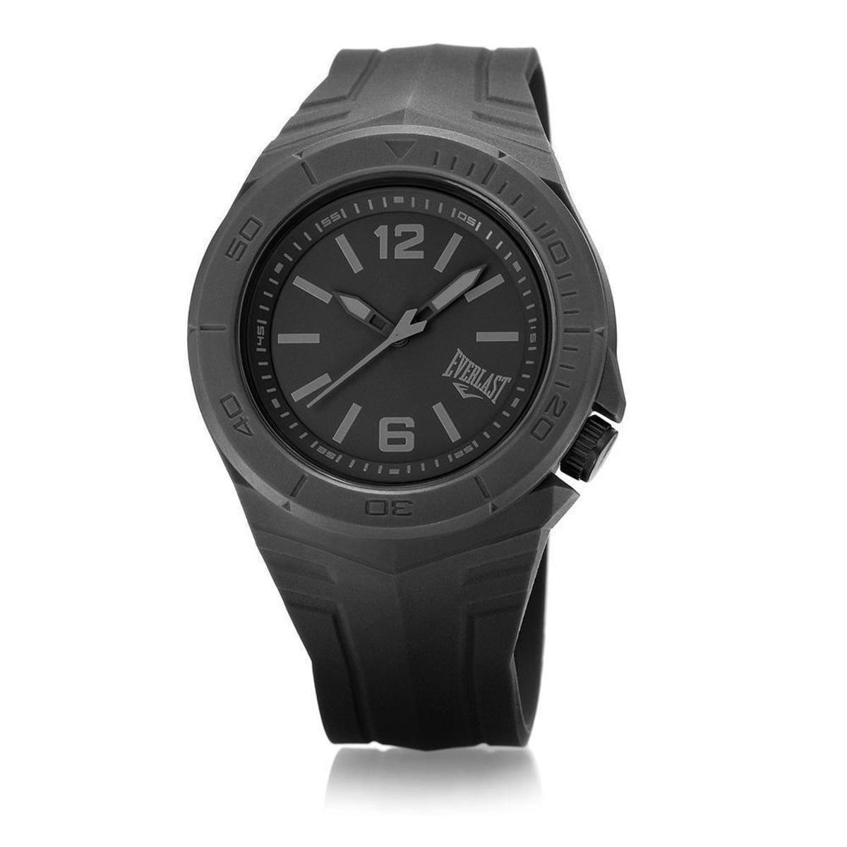 ede3e89b511 Relógio Pulso Everlast Masculino Pulseira Silicone Analógico - Preto -  Compre Agora
