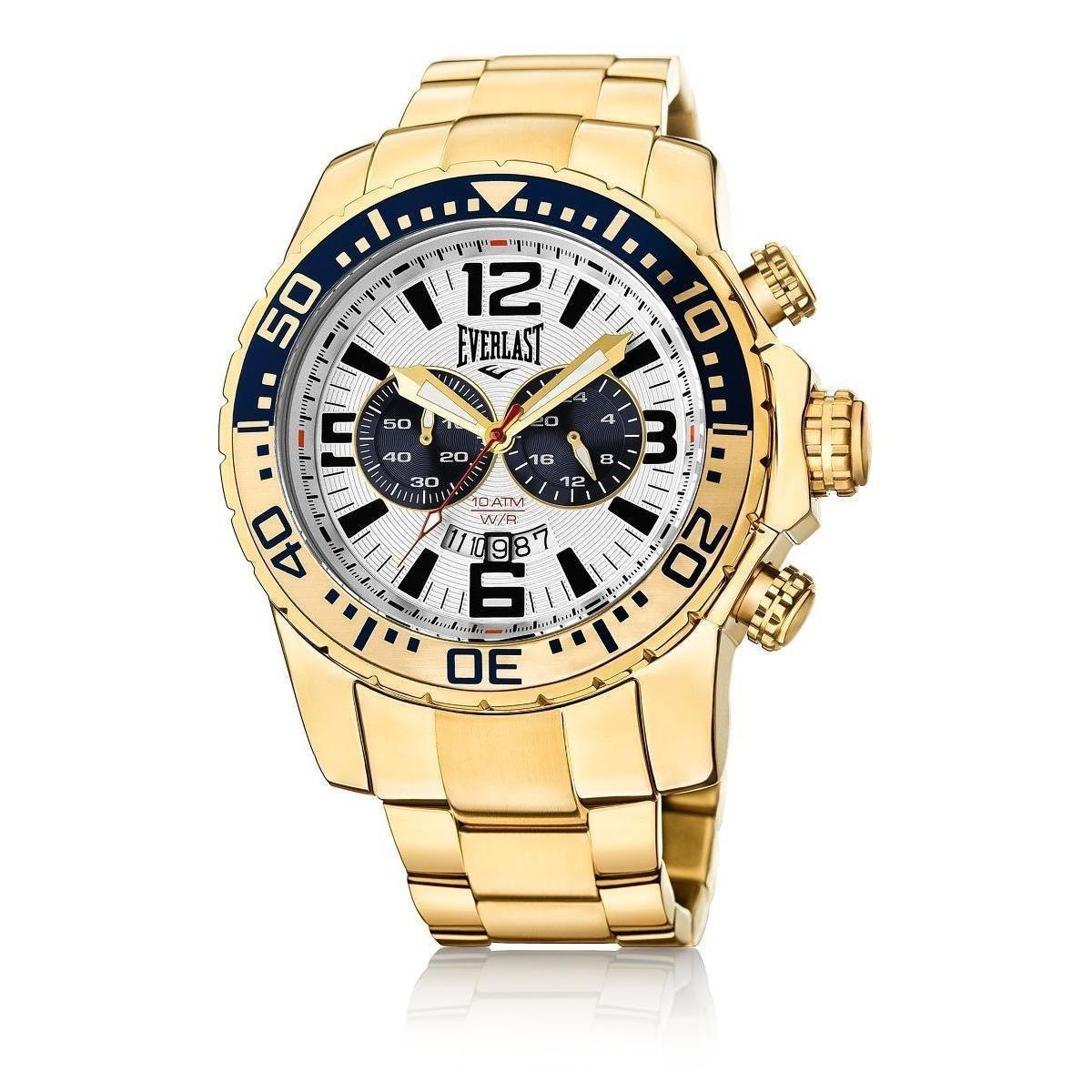 356d2bd3804 Relógio Pulso Everlast Pulseira Aço E651 Masculino - Dourado - Compre Agora