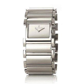 Relógio Pulso Jean Vernier Feminino Aço Inoxidável Dia a Dia