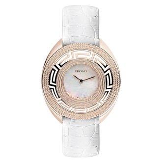 Relógio Pulso Versace Feminino Couro Aço Inoxidável Casual