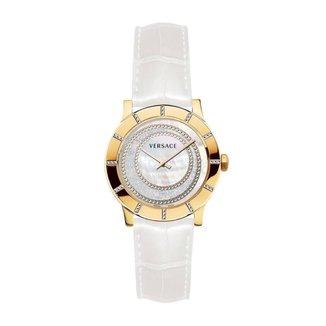 Relógio Pulso Versace Madrepérola 36 Diamante 0,084Ct Casual