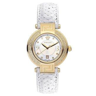 Relógio Pulso Versace Mostrador Madrepérola Diamantes Casual