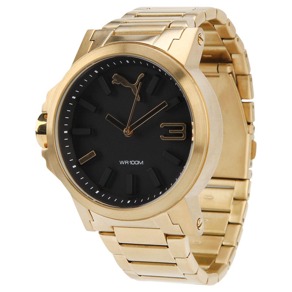 ebbd90e1321 Relógio puma ultrasize metal compre agora netshoes jpg 1200x1200 Dourado  relogio puma