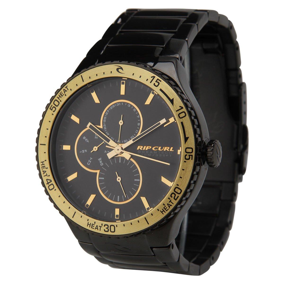 d112c9c6e9b Relógio Rip Curl Lincoln - Preto e Dourado - Compre Agora
