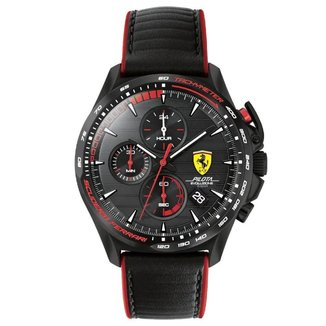 Relógio Scuderia Ferrari Masculino Borracha Preta 830849