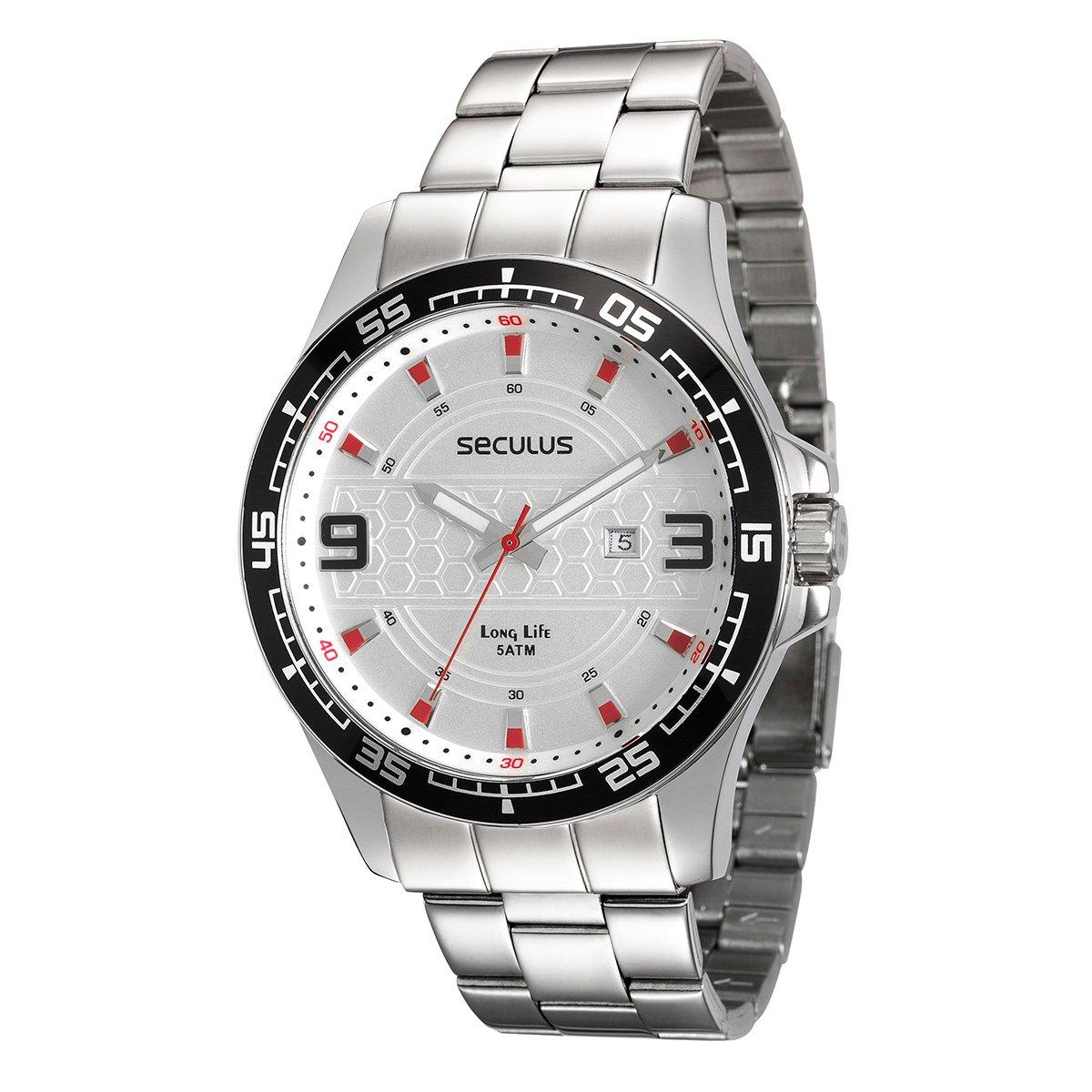 84b36f10e8d Relógio Seculus Analógico Long Life 28763G0SVNA1 Masculino - Compre Agora