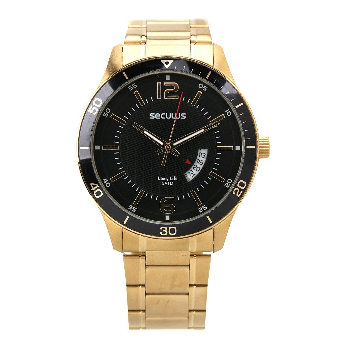 1b35762ad2e Relógio Seculus Analógico Masculino 20432GPSVDA3 - Compre Agora ...