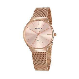 Relógio Seculus Feminino Rosé 77057LPSVRS1