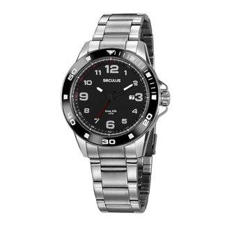 Relógio Seculus Masculino 20853G0svna1 Prata