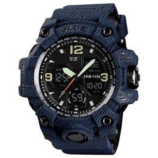 Relógio Skmei 1155 Azul Analógico e Digital Masculino